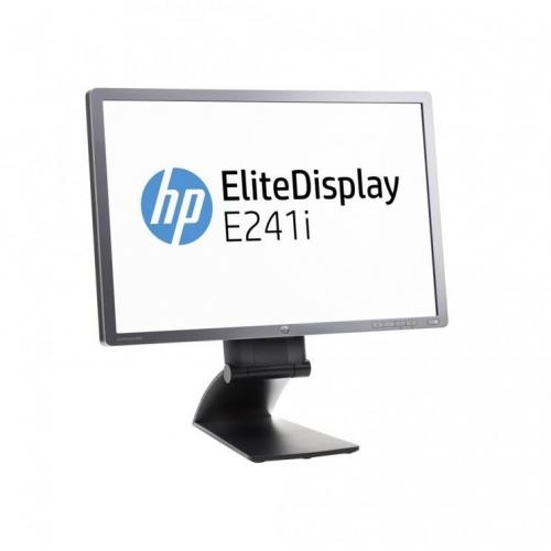 """LCD HP 24"""" E241i, black/gray, A-"""