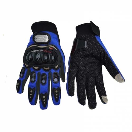 Motocyklové rukavice s ochranným zařízením modré