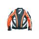 Moto bunda Devil Slayer oranžovo bílá