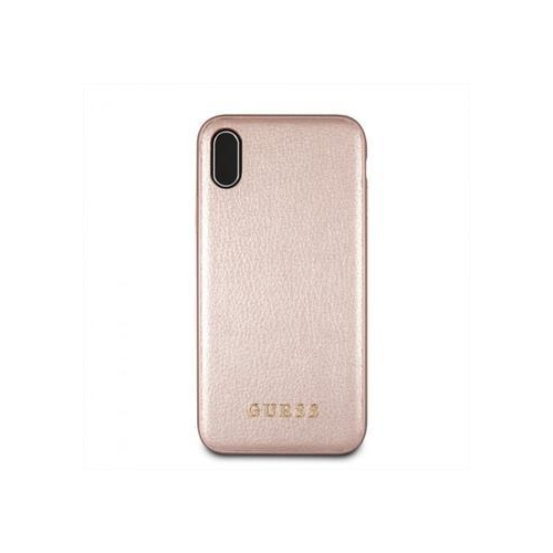 GUHCI65IGLRG Guess PU Leather Hard Case Iridescent Rose Gold pro iPhone XS Max