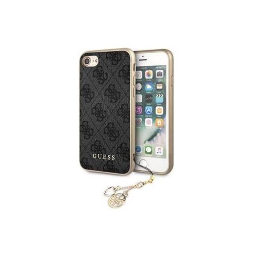 GUHCI8GF4GGR Guess Charms Hard Case 4G Grey pro iPhone 7/8