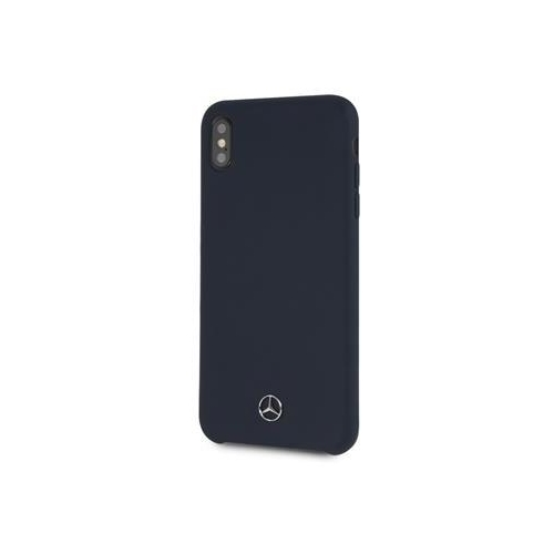 MEHCI65SILNA Mercedes Silicon/Fiber Case Lining Navy pro iPhone XS Max