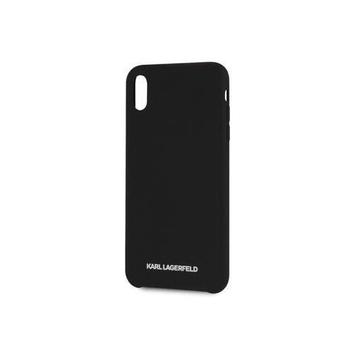 KLHCPXSLBKS Karl Lagerfeld Silver Logo Silicone Case Black pro iPhone X/XS