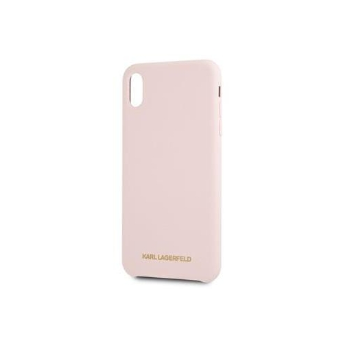 KLHCPXSLLPG Karl Lagerfeld Gold Logo Silicone Case Pink pro iPhone X/XS