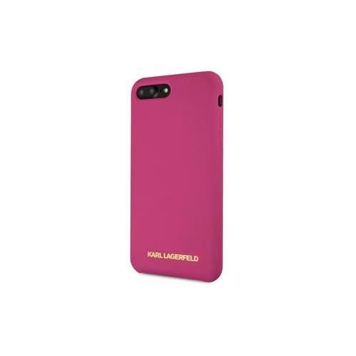 KLHCI8LSLROG Karl Lagerfeld Gold Logo Silicone Case Fushia pro iPhone 7/8 Plus
