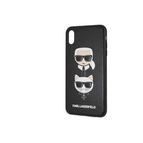 KLHCI65KICKC Karl Lagerfeld Karl and Choupette Hard Case Black pro iPhone XS Max