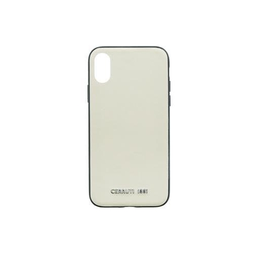 CEHCPXOWNLBE CERRUTI Leather TPU Pouzdro Beige pro iPhone X / XS